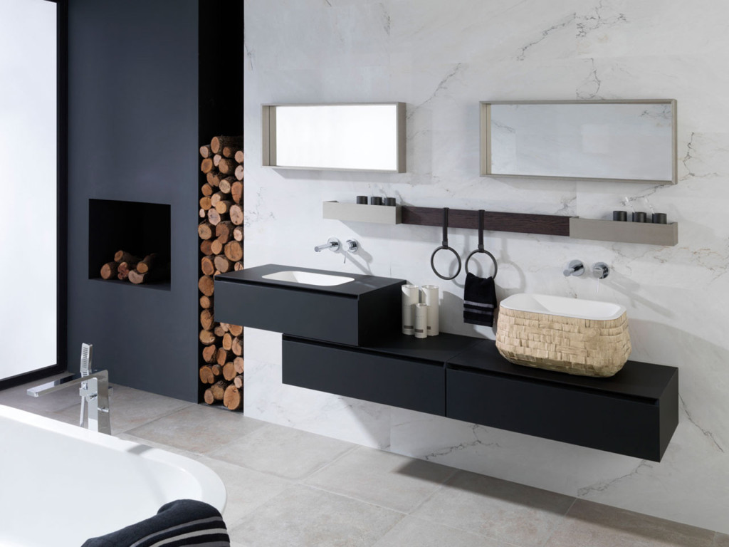 bois ou carrelage pour le sol de la salle de bain viving. Black Bedroom Furniture Sets. Home Design Ideas