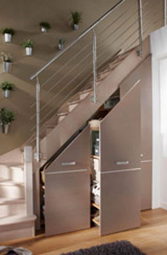 Aménager l\'espace sous un escalier - Viving