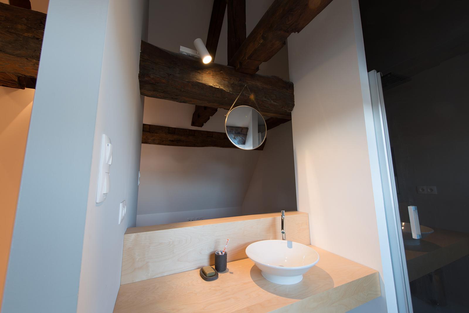 Appartement sous combles comment cr er une chambre ou une - Mini salle d eau dans une chambre ...
