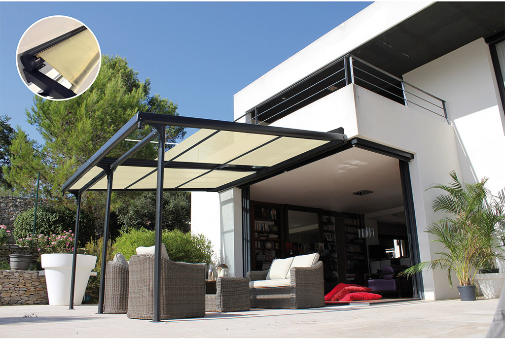 se prot ger du soleil parasols voiles d ombrage stores. Black Bedroom Furniture Sets. Home Design Ideas