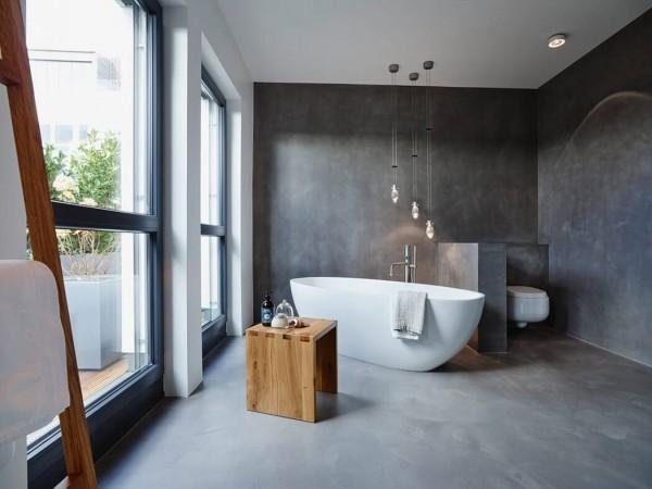 le béton ciré dans la salle de bain : tout ce qu'il faut savoir ... - Salle De Bains Beton Cire