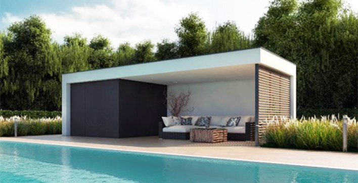 am nager un pool house un lieu tout confort pr s de la piscine viving. Black Bedroom Furniture Sets. Home Design Ideas