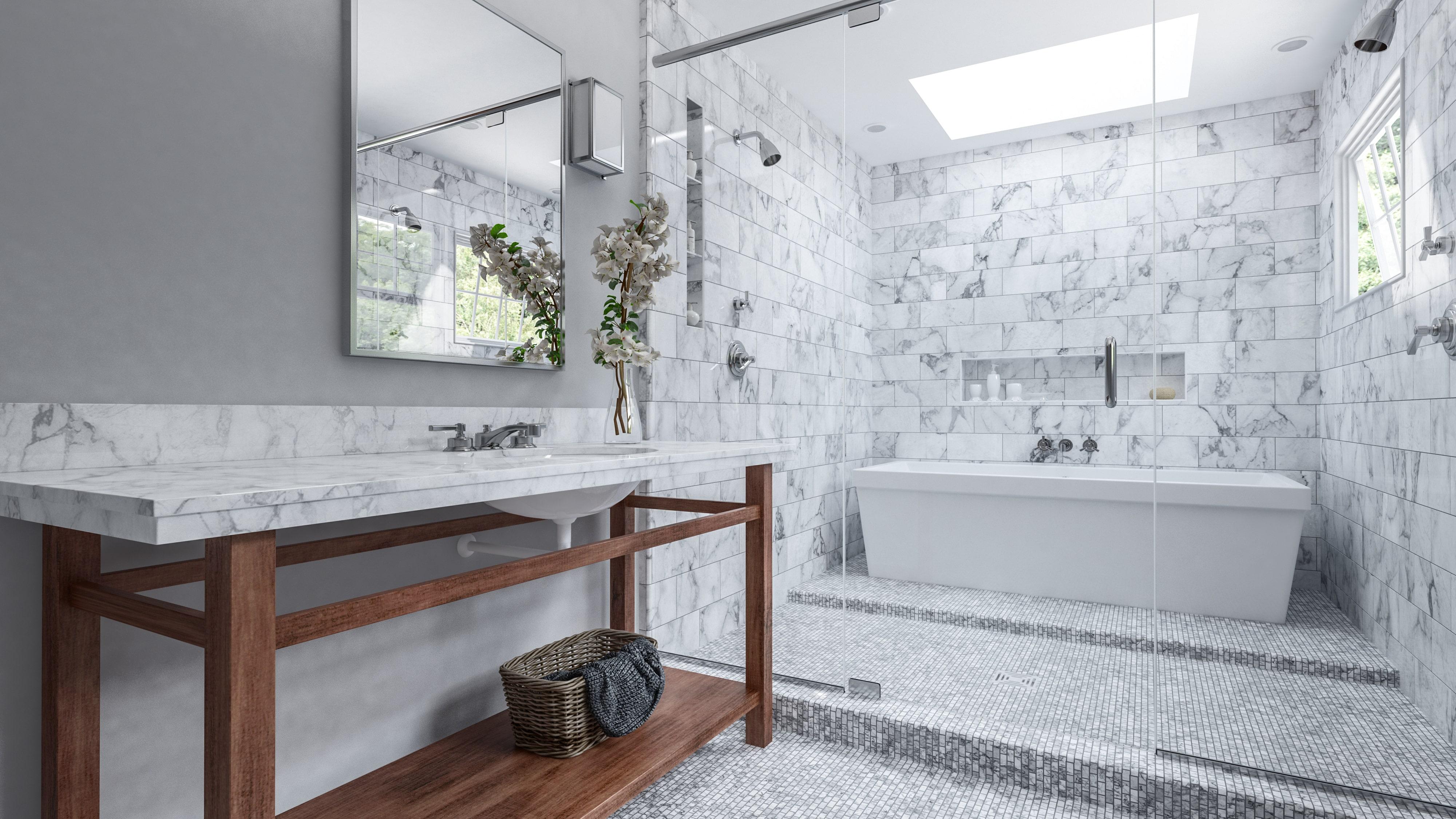 Combiner douche et baignoire dans une salle de bain - Salon VIVING